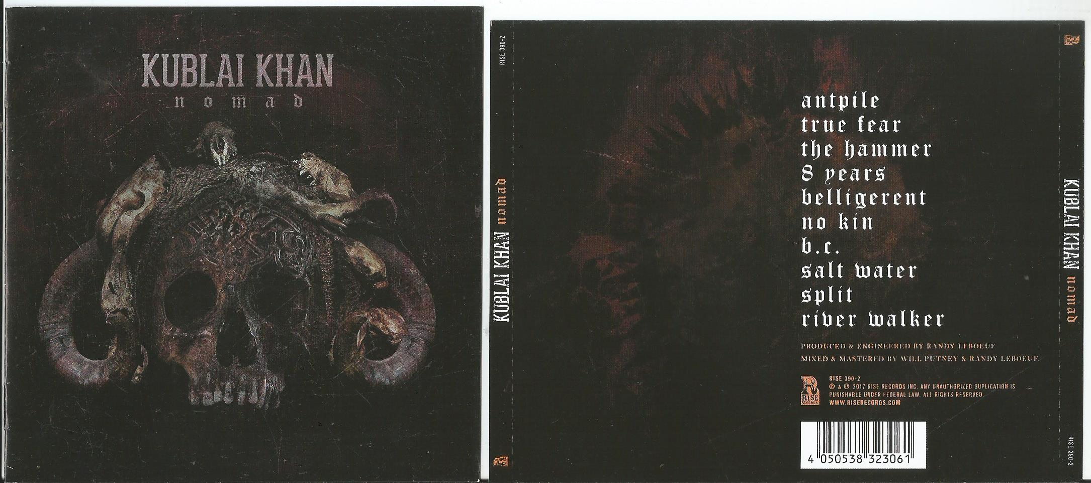 KUBLAI KHAN Nomad (jewel case edition, 8page booklet with lyrics)