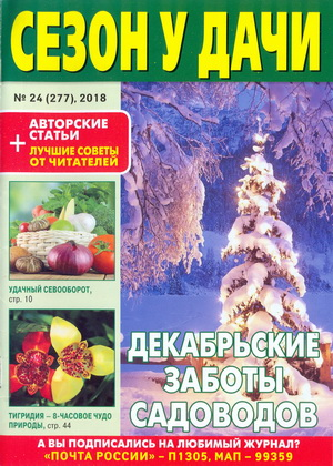 Газета   Сезон у дачи №24 (277) (Декабрь 2018) [PDF]