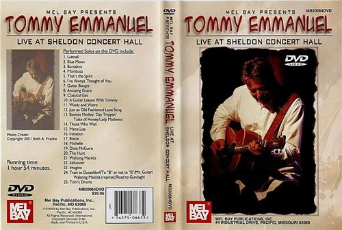 Tommy Emmanuel - Live At Sheldon Concert Hall (2000, DVDRip)