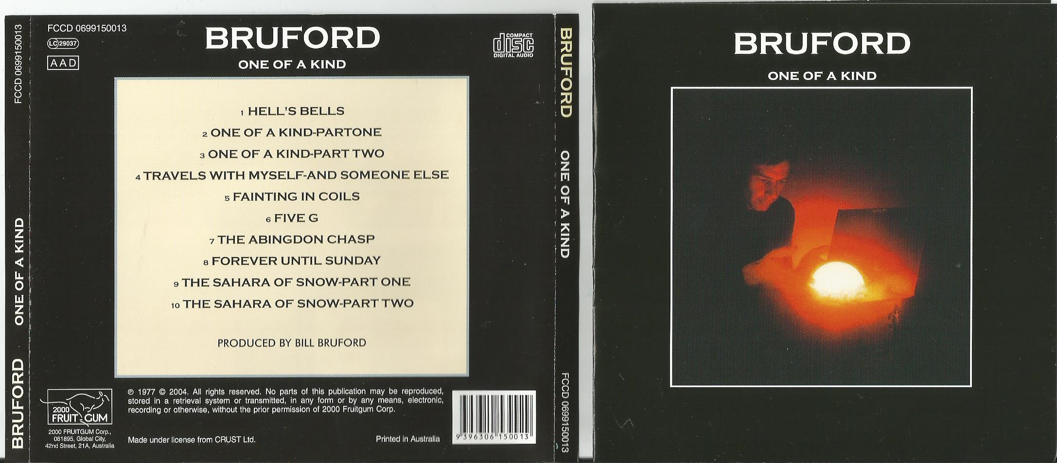 Bruford One Of A Kind Vinyl Records Lp Cd On Cdandlp