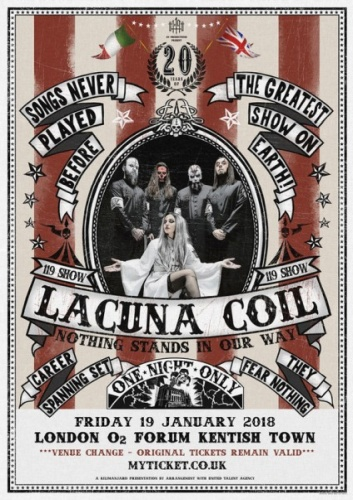 Lacuna Coil - The 119 Show - Live In London (2018, Blu-ray)