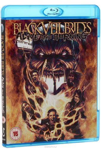 Black Veil Brides - Alive And Burning (2015, Blu-ray)