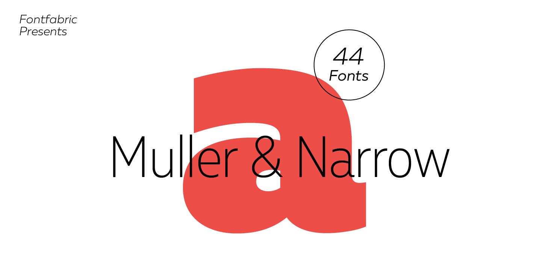 Семейство шрифтов Muller