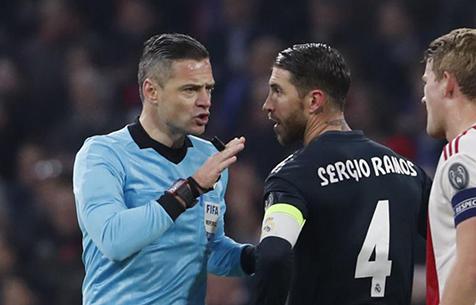 Официально: УЕФА дисквалифицировала С. Рамоса на ещё один матч