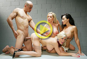 Nikki Benz, Lisa Ann & Diamond Foxxx – Стюардессы / Fly Girls (2010)