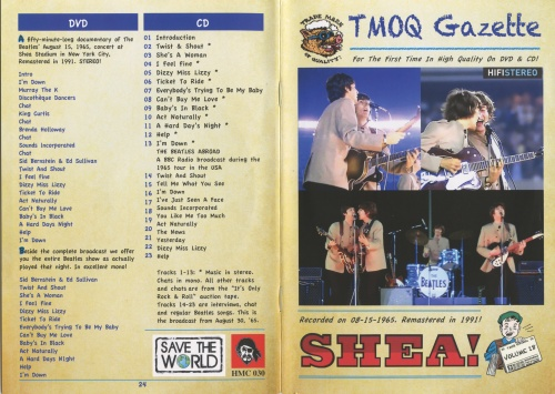 The Beatles - TMOQ Gazette Vol 18 - Shea 1965 (1991, DVD5, CD)