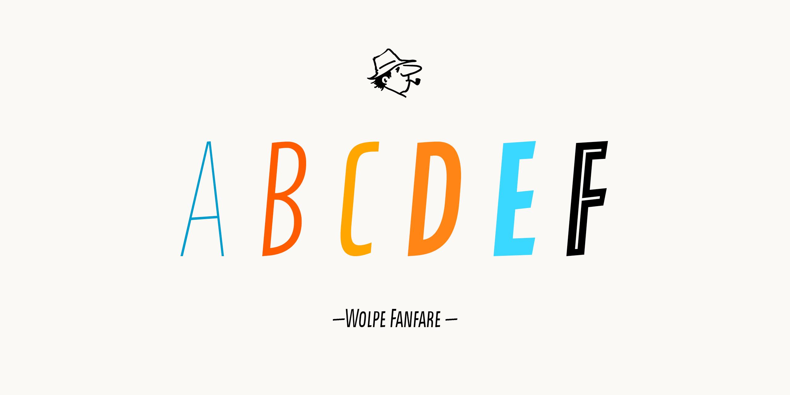 Шрифт Wolpe Fanfare