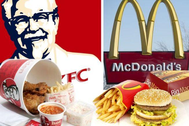 Ресторани швидкого харчування KFC та McDonald's у ТРЦ «Оушен Плаза»