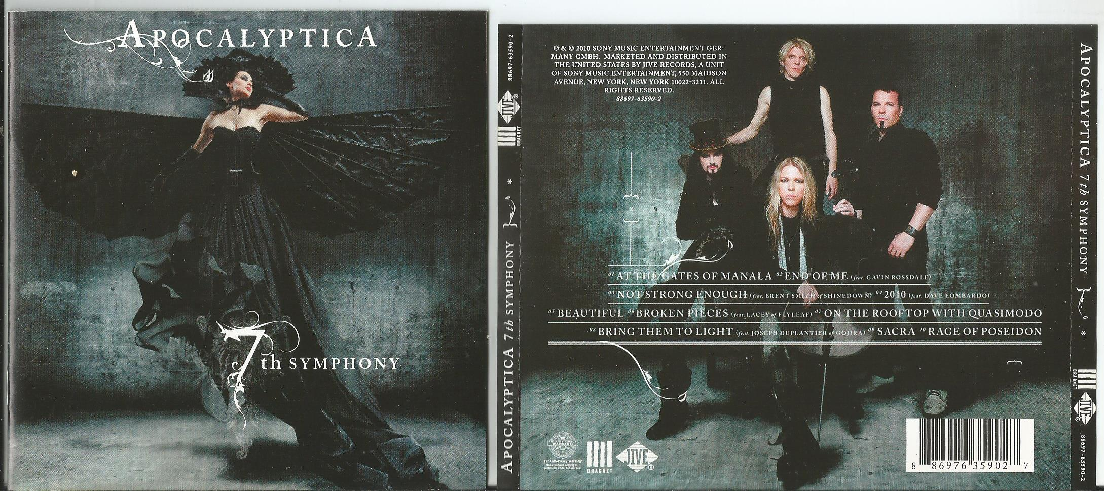 APOCALYPTICA 7th Symphony (16page booklet with lyrics)
