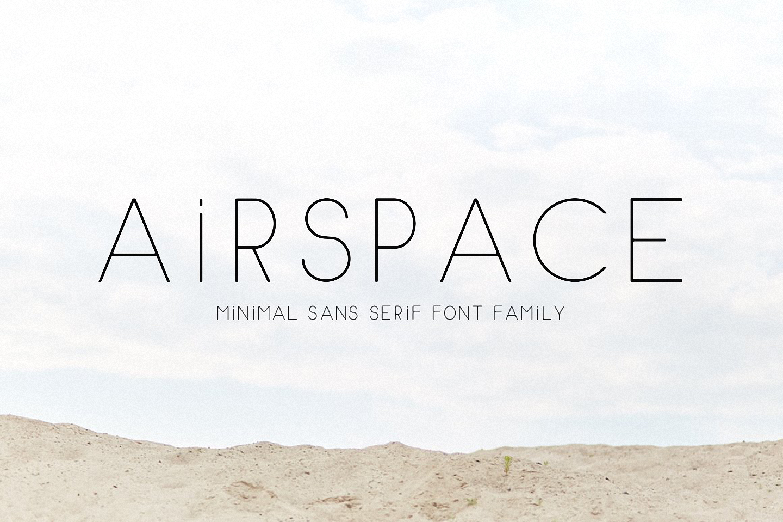 Шрифт AIRSPACE Minimal Sans Serif