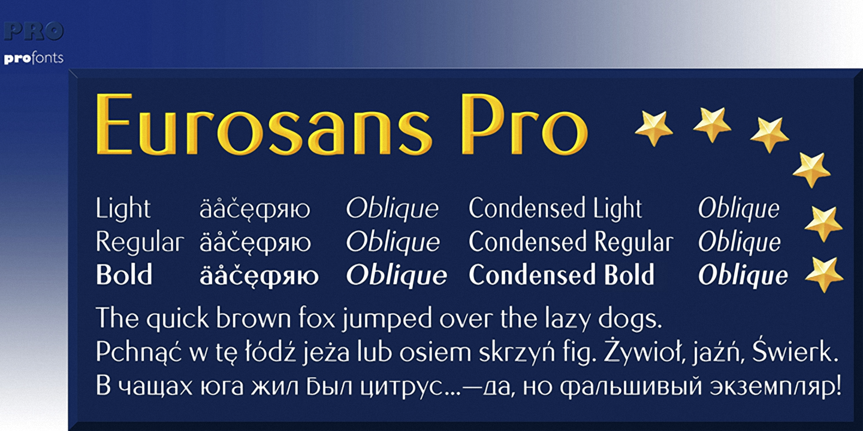 Шрифт Euro Sans Pro
