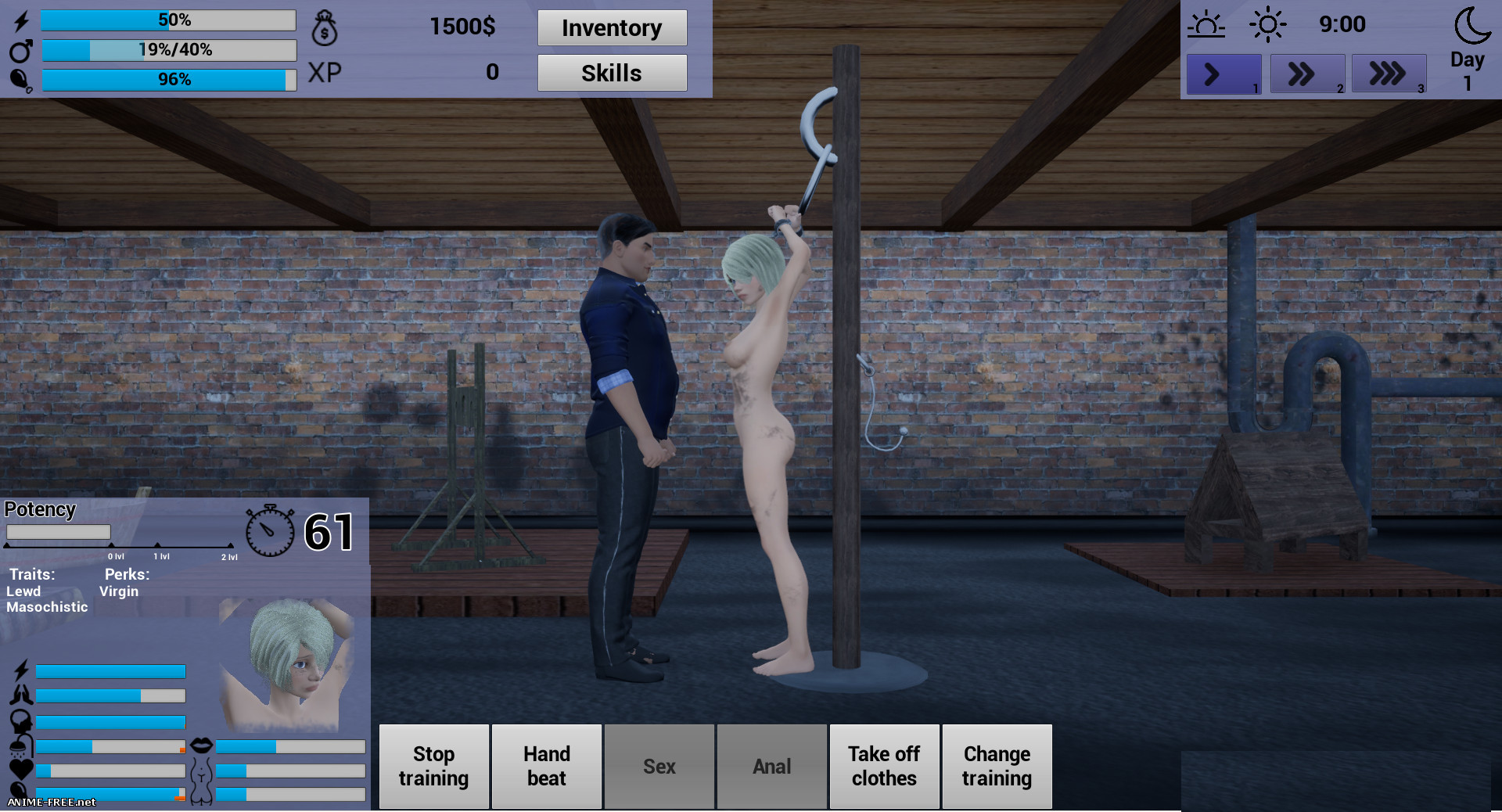 90 Seconds Slave [2019] [Uncen] [Sim, 3DCG] [ENG] H-Game