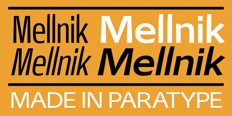 Шрифт Mellnik