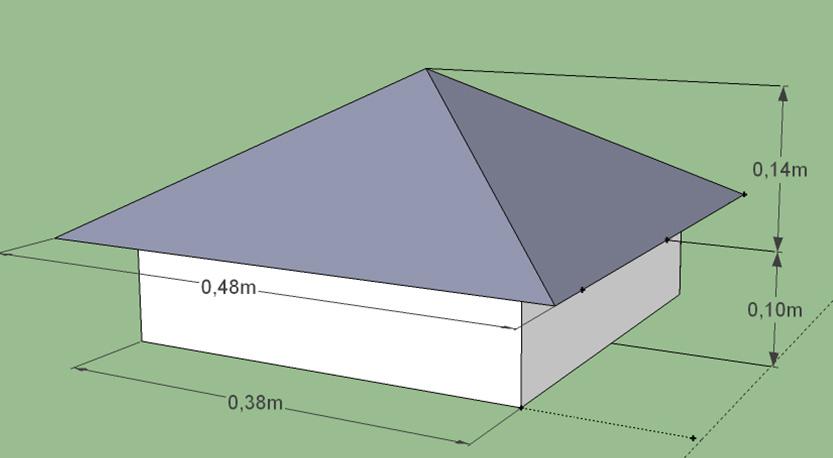 Стандартные размеры колпака на столб