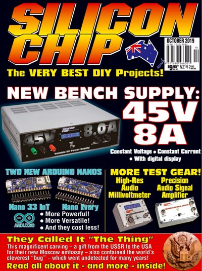 Silicon Chip №10 (October 2019)
