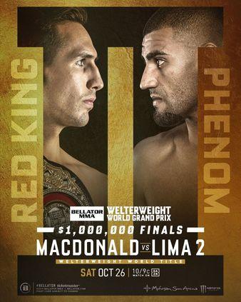 Bellator 232: MacDonald vs. Lima 2 / Рори МакДональд - Дуглас Лима 2 / Основной кард / Матч! Боец [Смешанные единоборствп ММА, 26.10.2019, WEBRip]