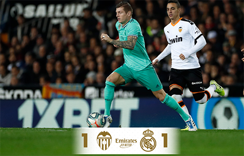 Valencia C.F. - Real Madrid C.F. 1:1
