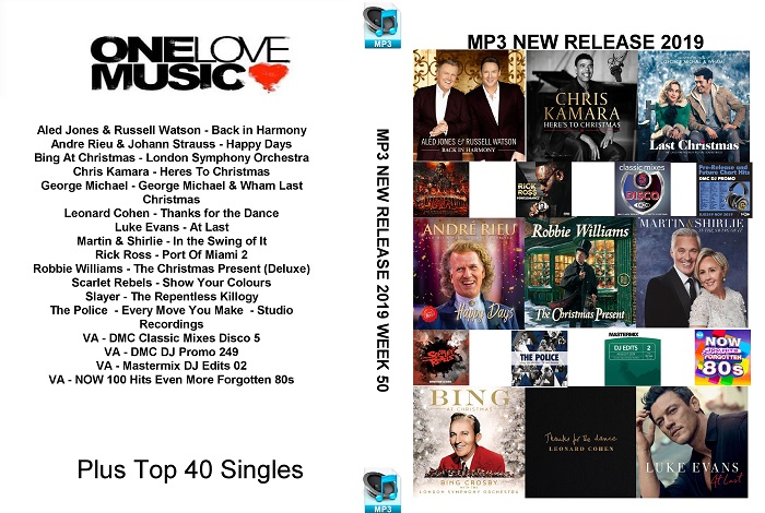 MP3 NEW RELEASES 2019 WEEK 50