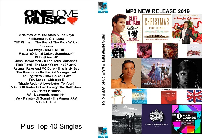 MP3 NEW RELEASES 2019 WEEK 51