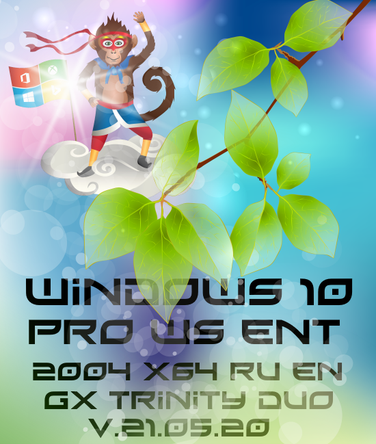 Windows 10 PRO/WS/ENT (x64) GX Trinity Duo v.21.05.20