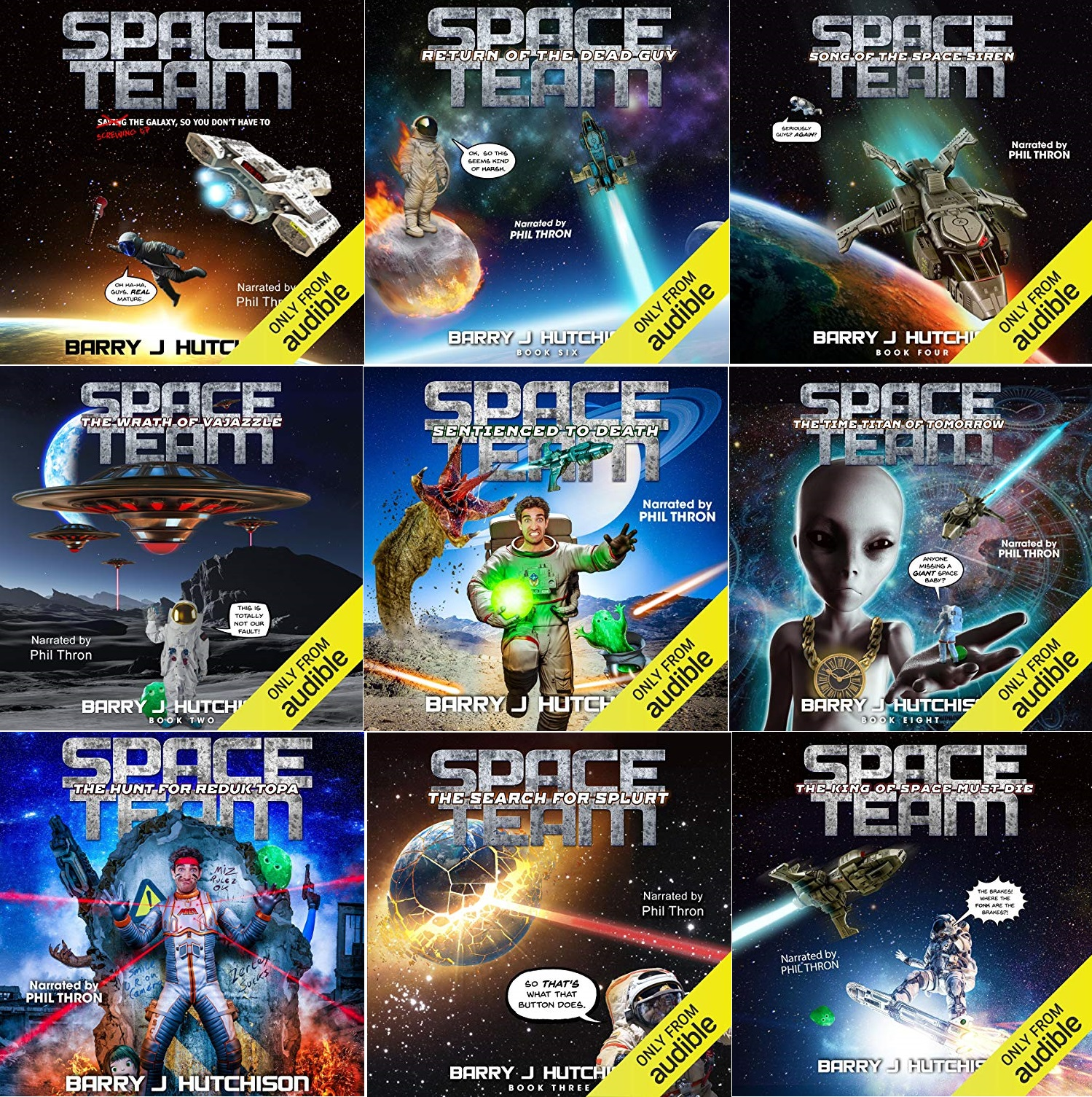 Space Team Series, Books 1-12 - Barry J Hutchison