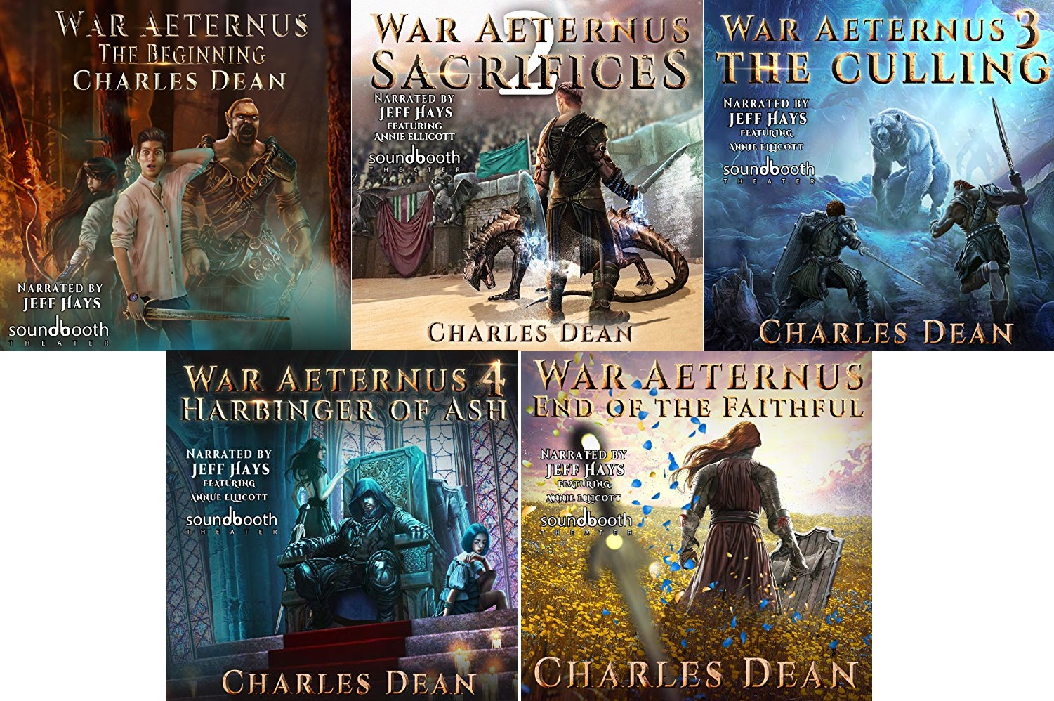 War Aeternus Series Book 1-5 - Charles Dean