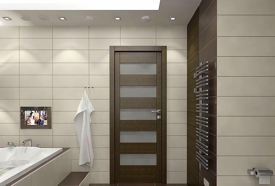 Двери в ванну и туалет: материалы, отделка, дизайн