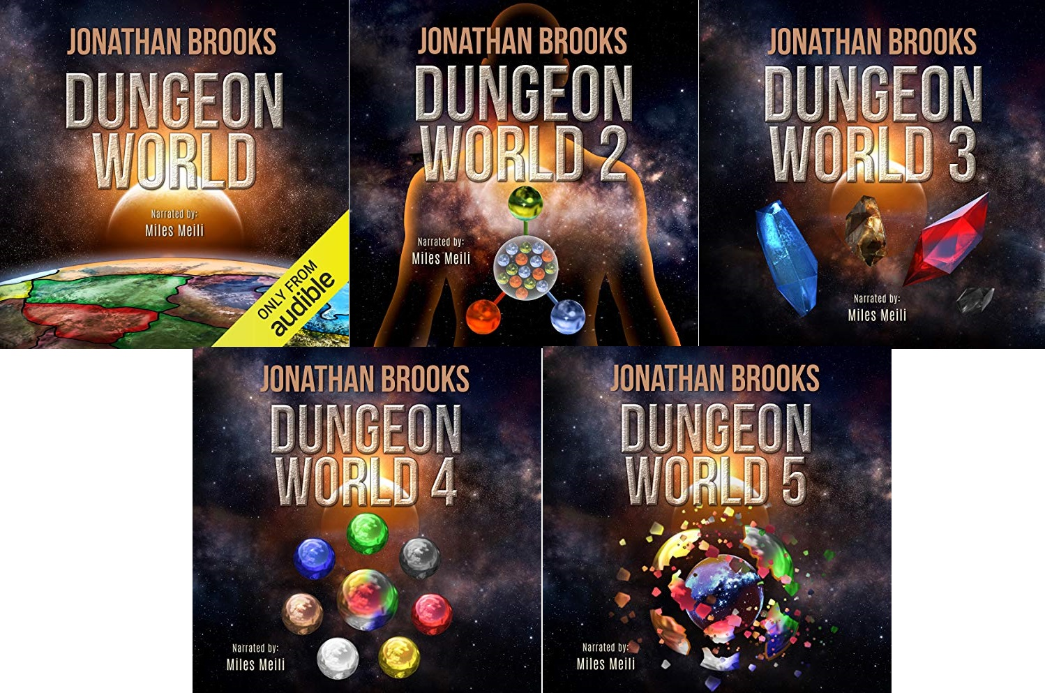 Dungeon World Series Books 1-5 - Jonathan Brooks