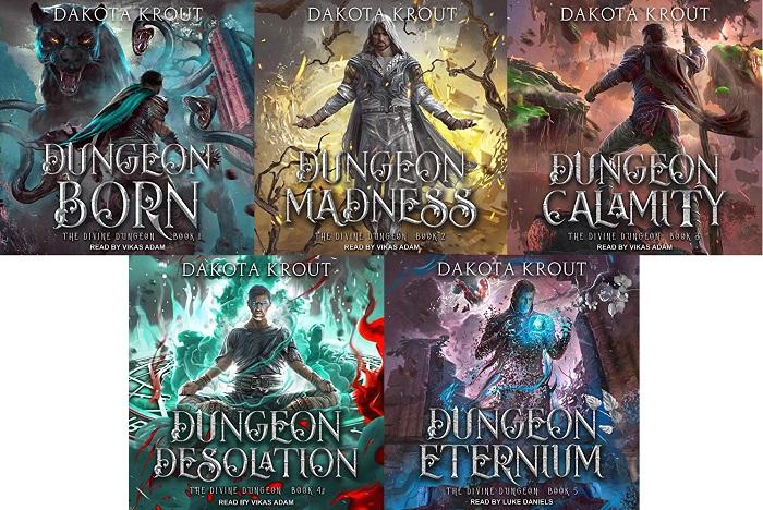 Divine Dungeon Series Book 1-5 - Dakota Krout