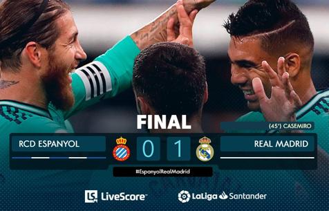RCD Espanyol - Real Madrid C.F. 0:1