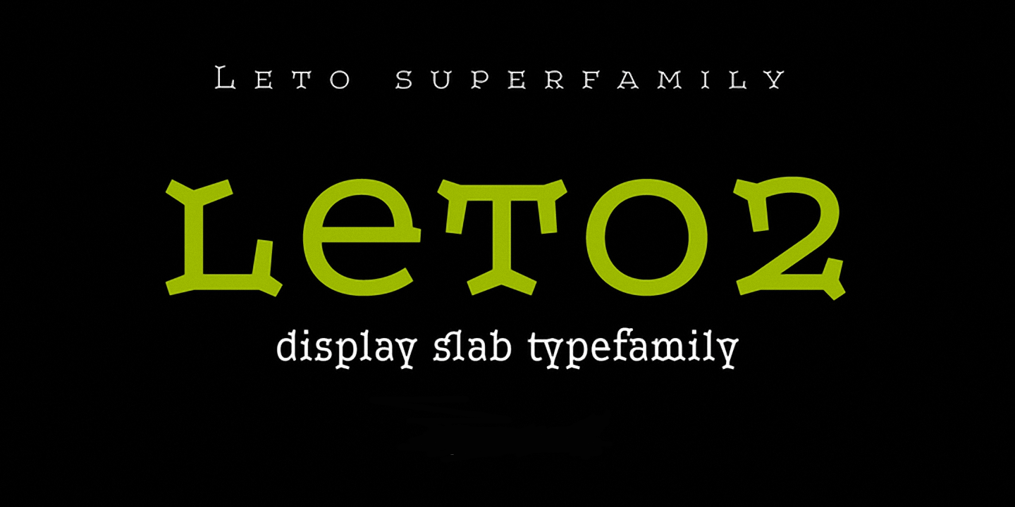Шрифт Leto Two