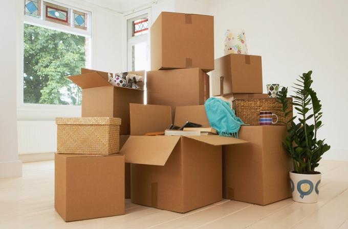 Картонная упаковка для переезда