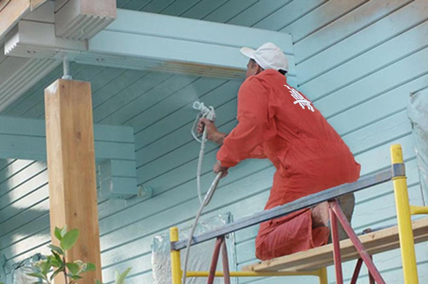 Особенности покраски бревенчатых стен