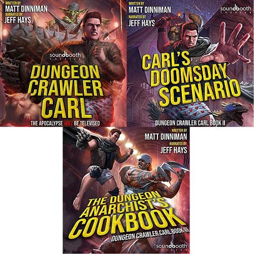 Dungeon Crawler Carl Series Book 1-3 - Matt Dinniman