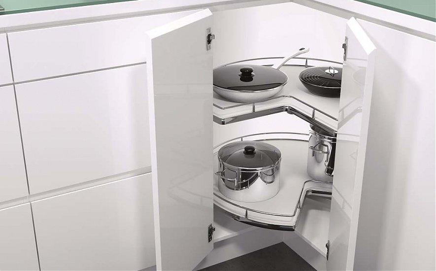 Угловая секция для белой кухни