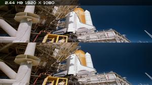 Космическая станция в 3Д / Space Station 3D  Вертикальная анаморфная